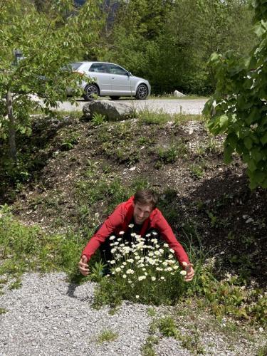 Andreas und Blumen